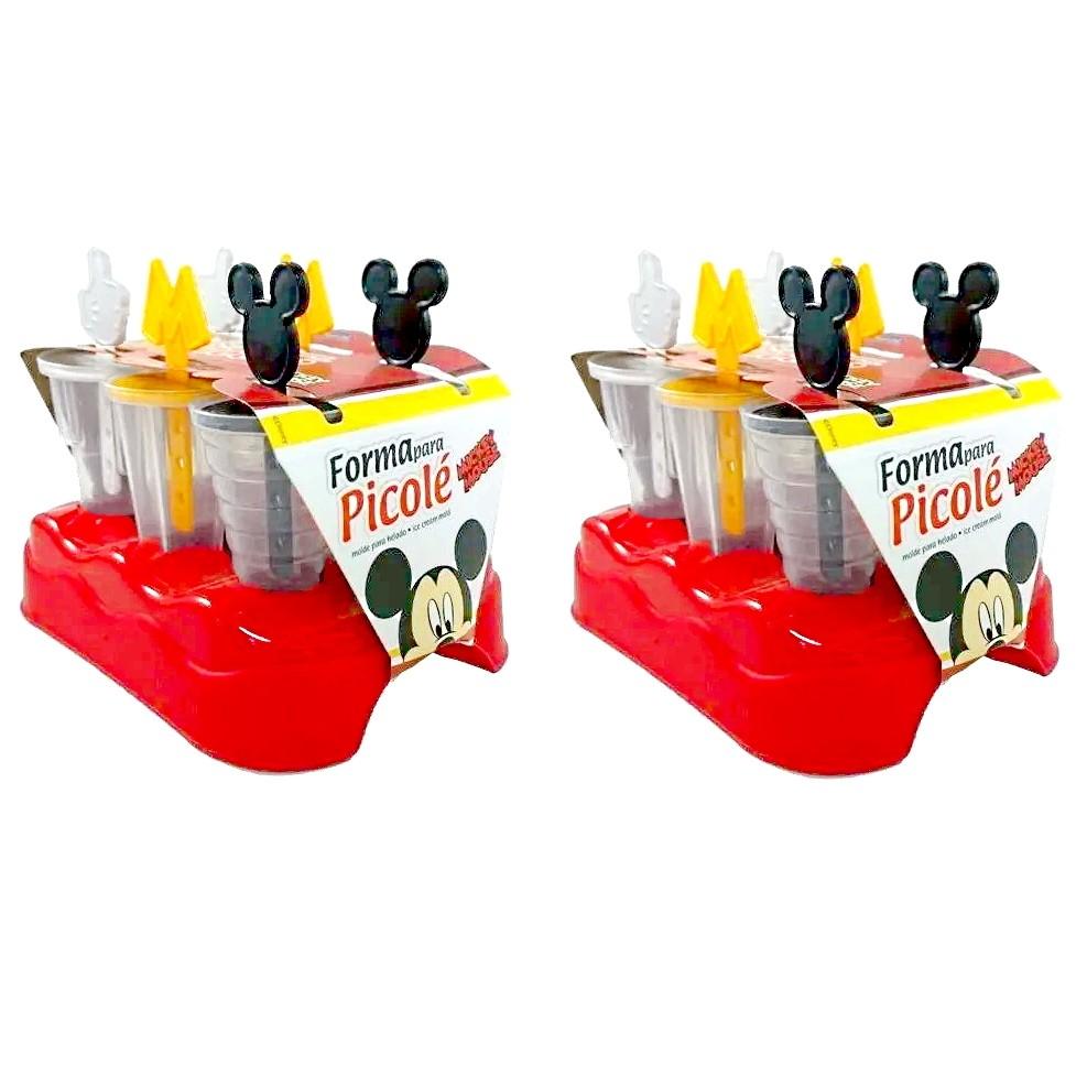 Kit Fabrica de Picolé do Mickey com 12 Formas de Sorvete