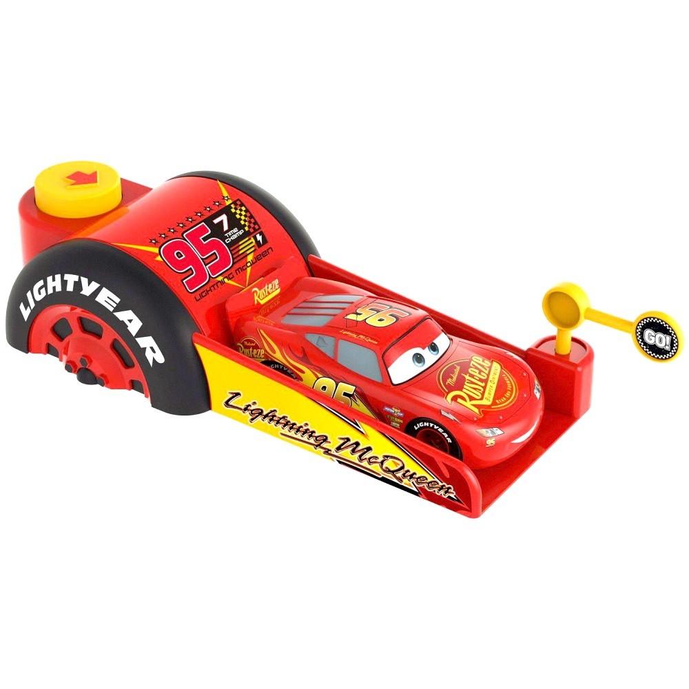 Kit Lançador de Carros com Relâmpago Mcqueen e Cones