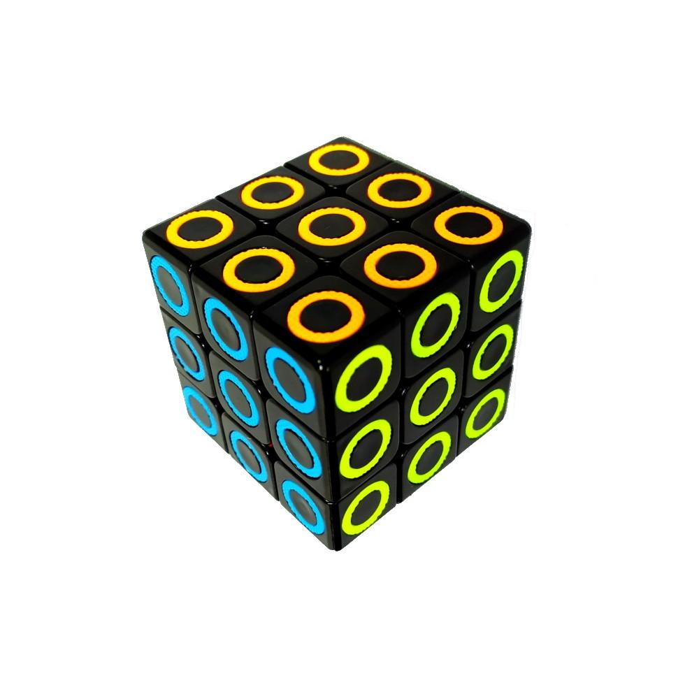 Kit Lógica e Diversão com Cubo Mágico e Quebra-cabeça Gatinho de 500 Peças 3D