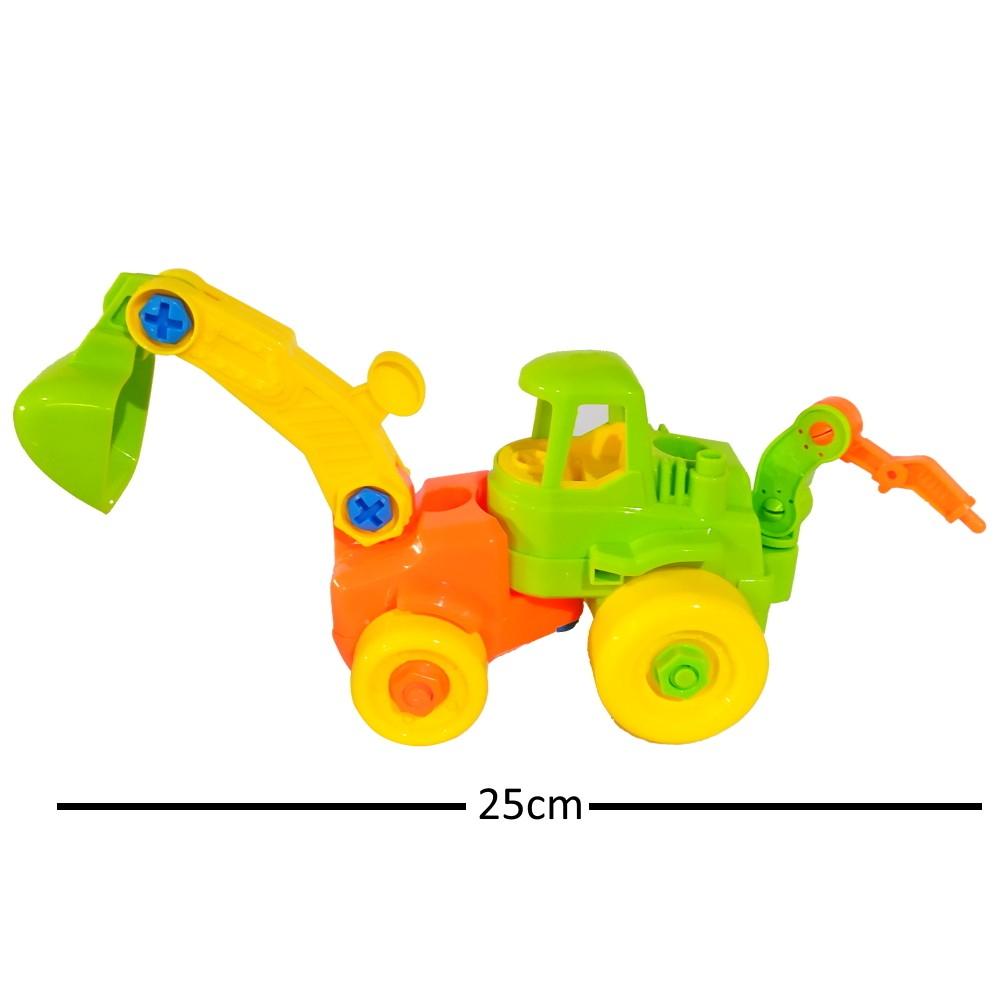 Kit Moto e Trator de Montar com Chave Brinquedo Educativo Infantil