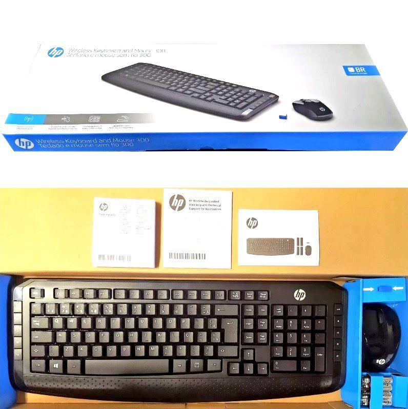 Kit Teclado e Mouse Sem fio HP Slim Séries - Lançamento