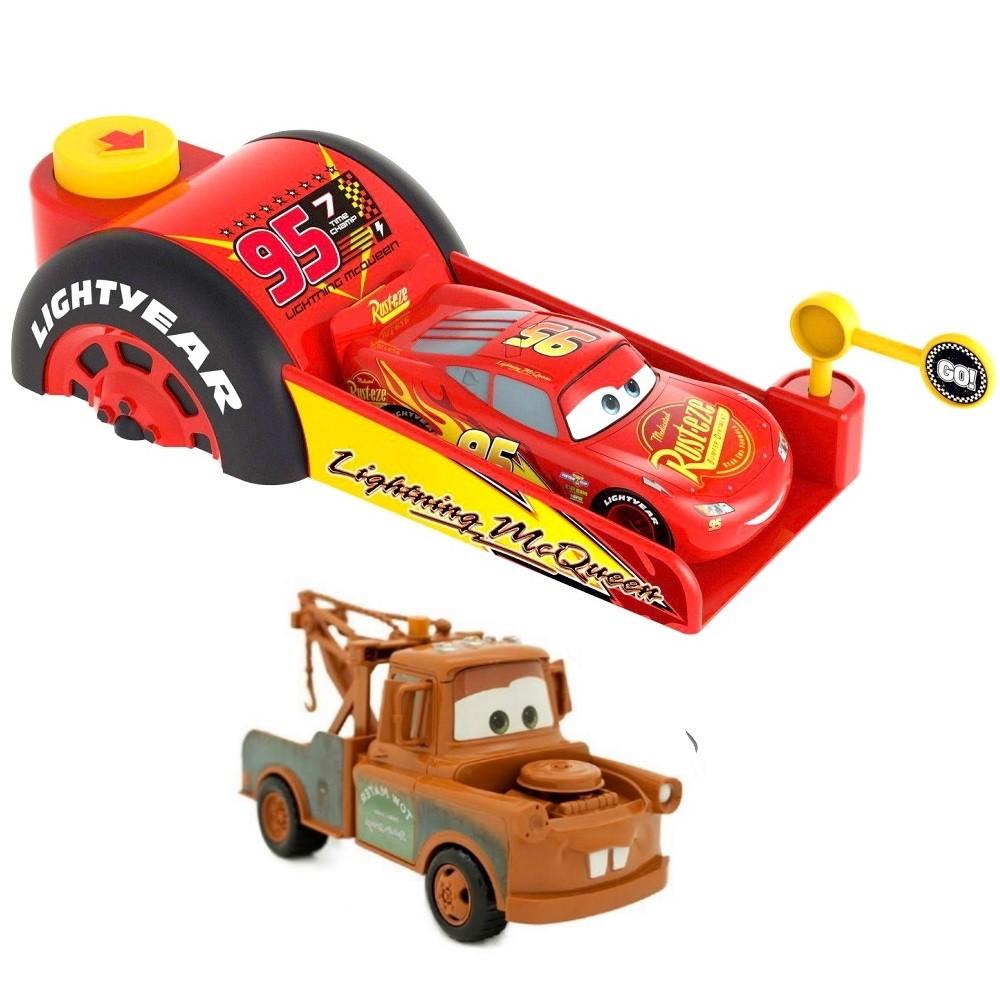 Lançador do Carros Velocidade Máxima com Mcqueen e Mate