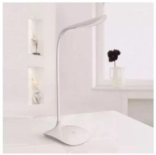 Luminária de Mesa Flexível USB e Pilha Xtrad - Branco