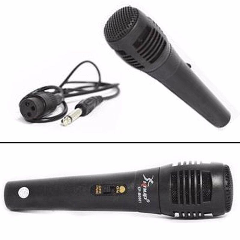 Microfone Com Fio Hi-Fi KP-M0011 Botão ON/OFF