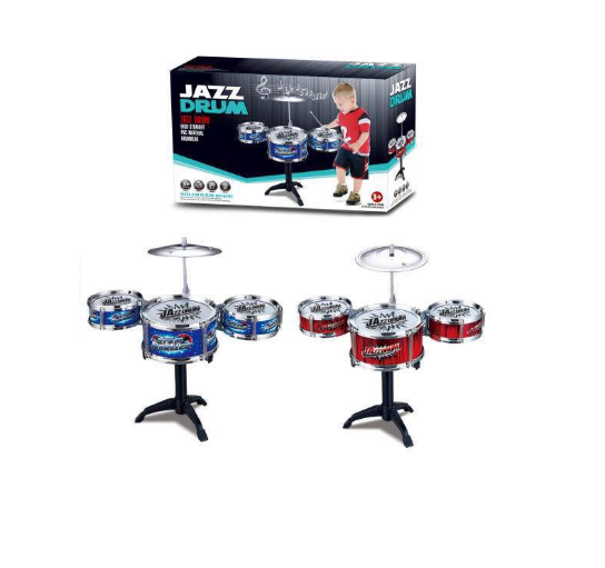 Mini Bateria Infantil Educativa Instrumento Música Jazz Drum