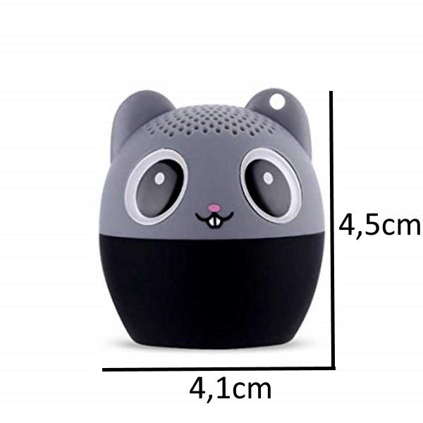 Mini Caixa de Som Bluetooth HD 4.1 Mini PET 3W Super Potente Animais - Ratinho