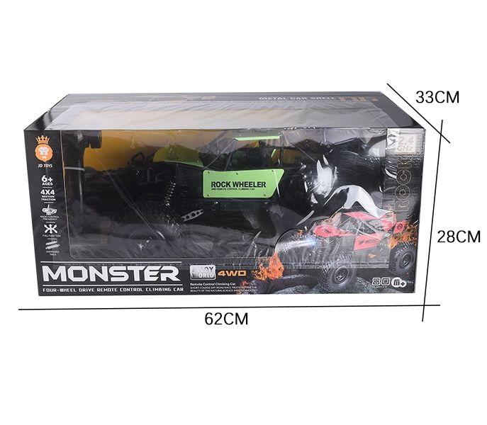 Monster Truck Carro Off Road  Elétrico Grande Carroceria Metal Suspensão Controle 2.4Ghz
