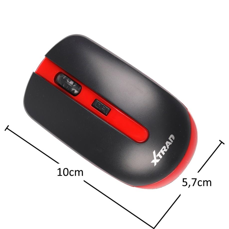 Mouse sem fio Slim 3200 DPI para PC e Notebook Cor:Vermelho