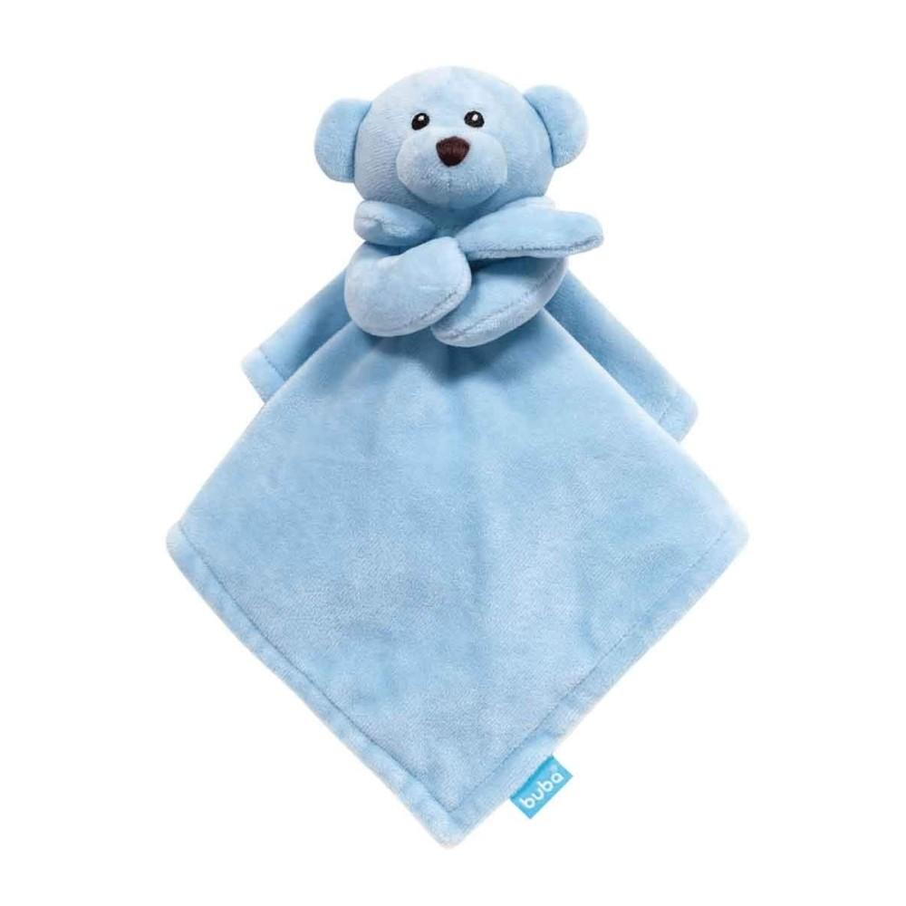 Naninha Ursinho Pelúcia Bebê Soninho Buba Baby Acima 3 meses Azul