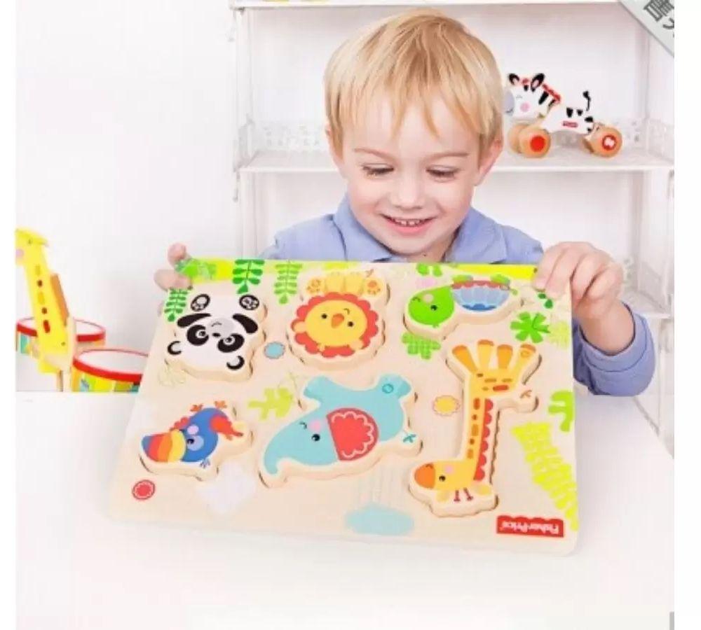 Peças de Montar Quebra Cabeça Infantil Educativo Fisher Price Premium