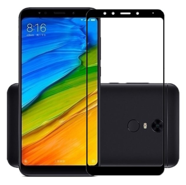 Película 3D de Vidro Borda Preta Xiaomi Redmi 5 Plus
