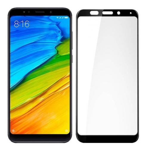 Película 5D de Vidro Borda Preta Xiaomi Redmi Note 5 e Redmi 5 Plus