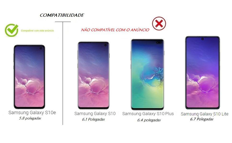 Pelicula Nano Gel Borda Preta Para Galaxy S10e 5.8 Polegadas