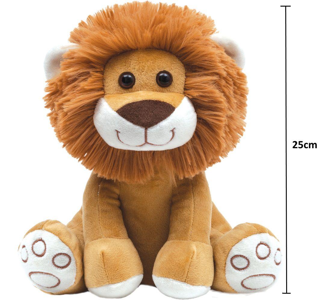 Pelúcia Bebe meu Leãozinho de 25cm para crianças acima de 3 meses