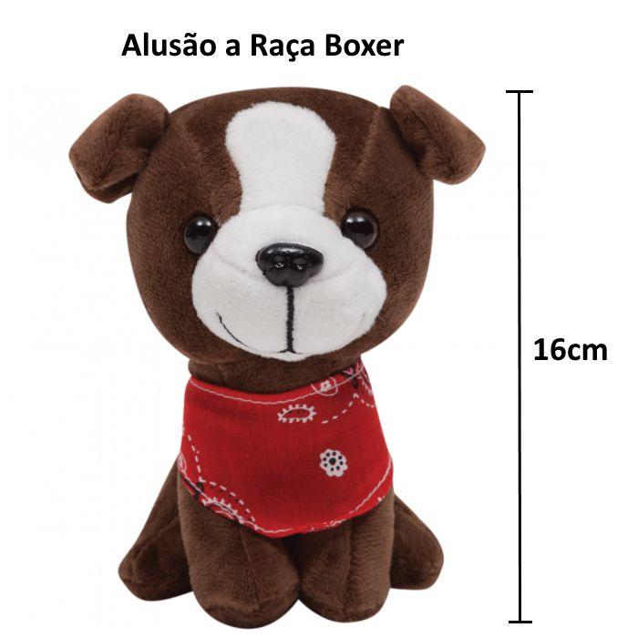 Pelúcia de Cachorrinho Baby Não Alérgica Mini Boxer