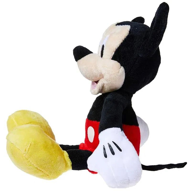 Pelúcia do Mickey Mouse de 22cm com Som em Português Disney Junior