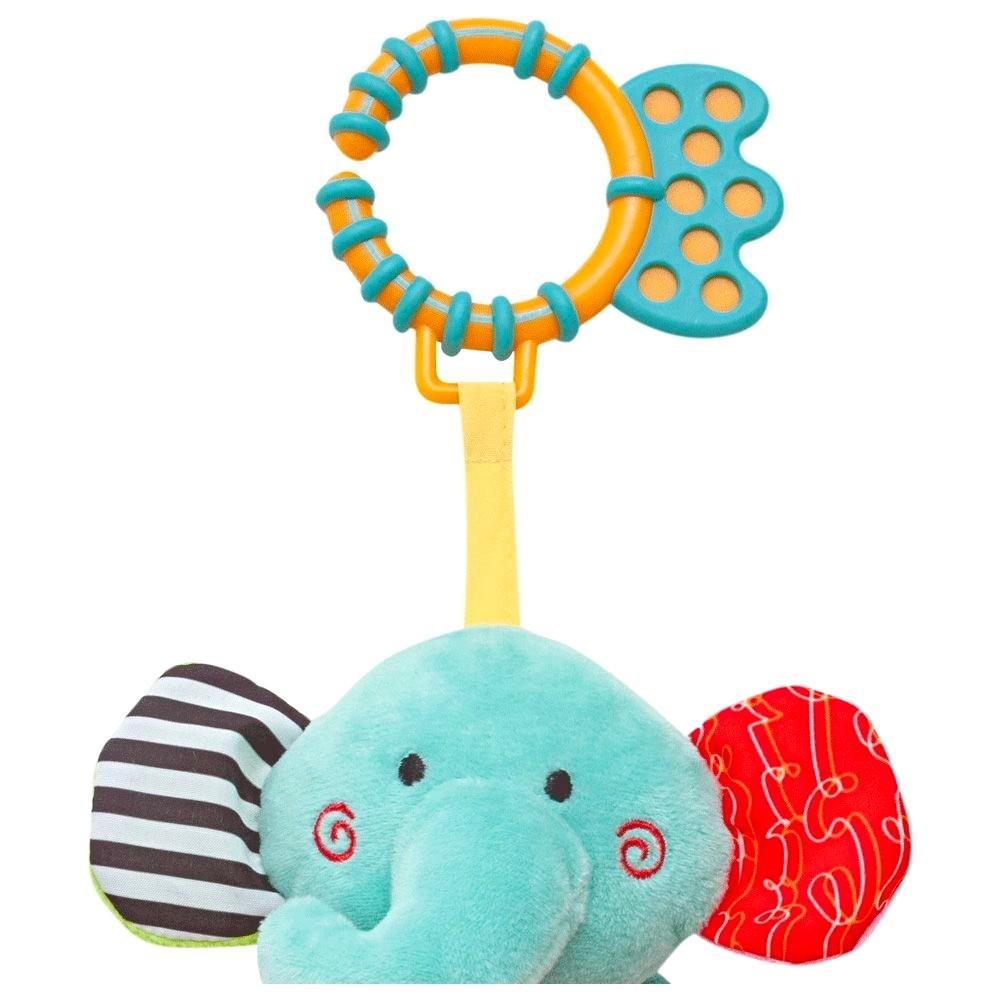 Pelúcia Elefantinho Mola de Atividades Happy Zoo Buba Baby