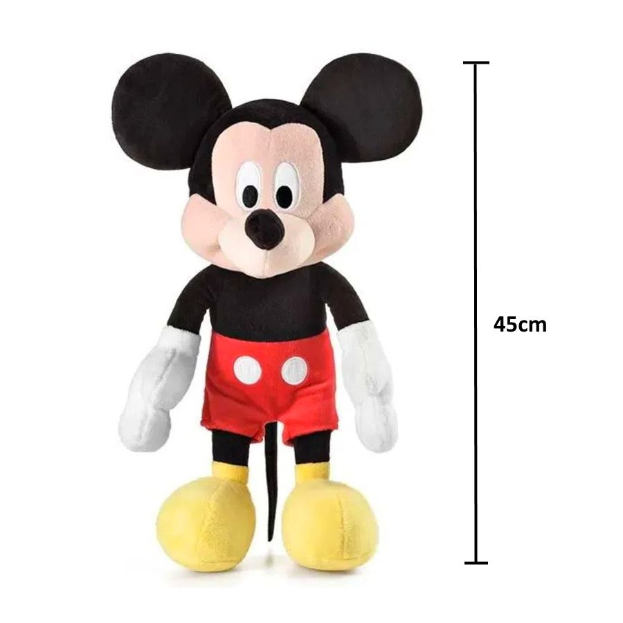 Pelúcia Mickey de 45cm com Som e Falas em Português Disney