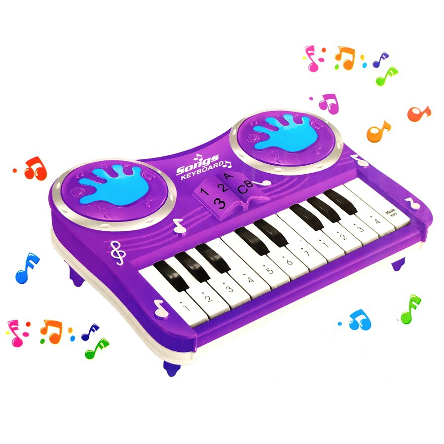 Pianinho Infantil Educativo Piano Do Ré Mi Fa Musical Estimulante Roxo