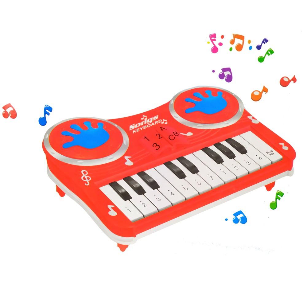 Pianinho Infantil Educativo Piano Do Ré Mi Fa Musical Estimulante Vermelho