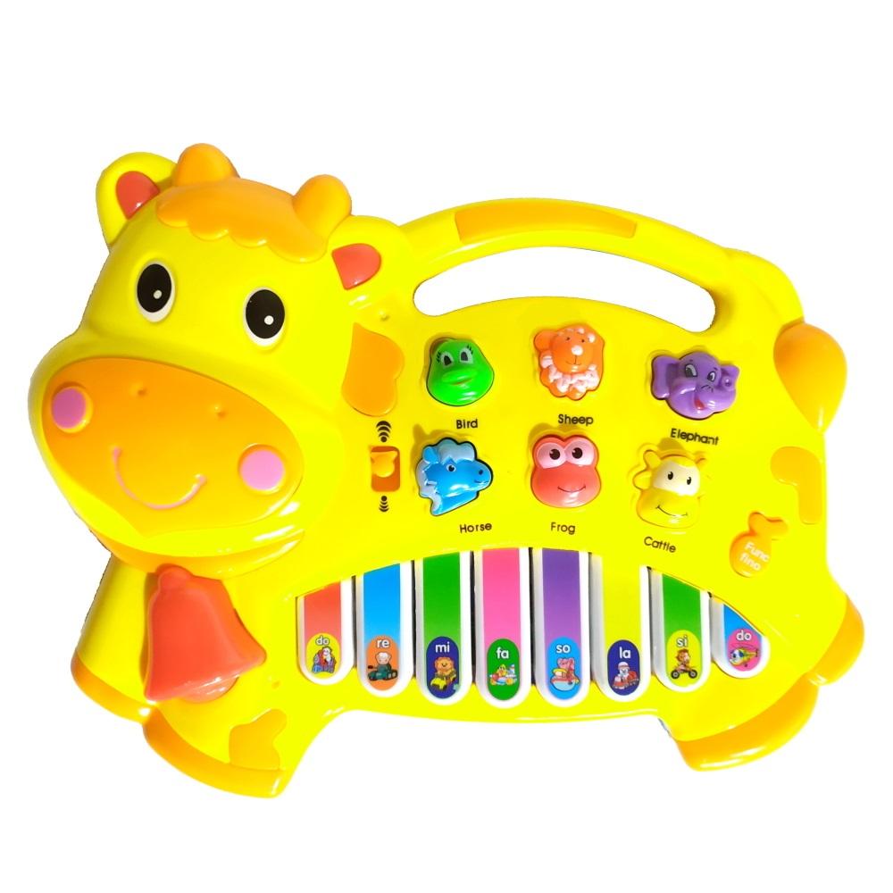 Piano Musical Vaca Amarela Músicas Sons Bichos Do Ré Mi Fá