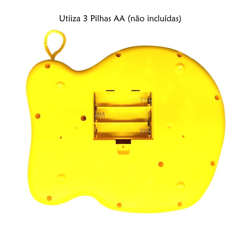 Piano Telefone Musical com Luz Músicas e Sons de Bichos Amarelo