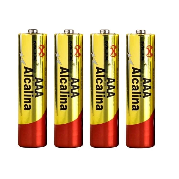 Pilha AA Alcalina MOX Comum Alto Rendimento Cartela C/ 4 Pilhas