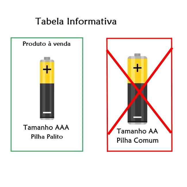 Pilha Palito AAA Alcalina MOX  Alto Rendimento - Cartela com 2 Pilhas