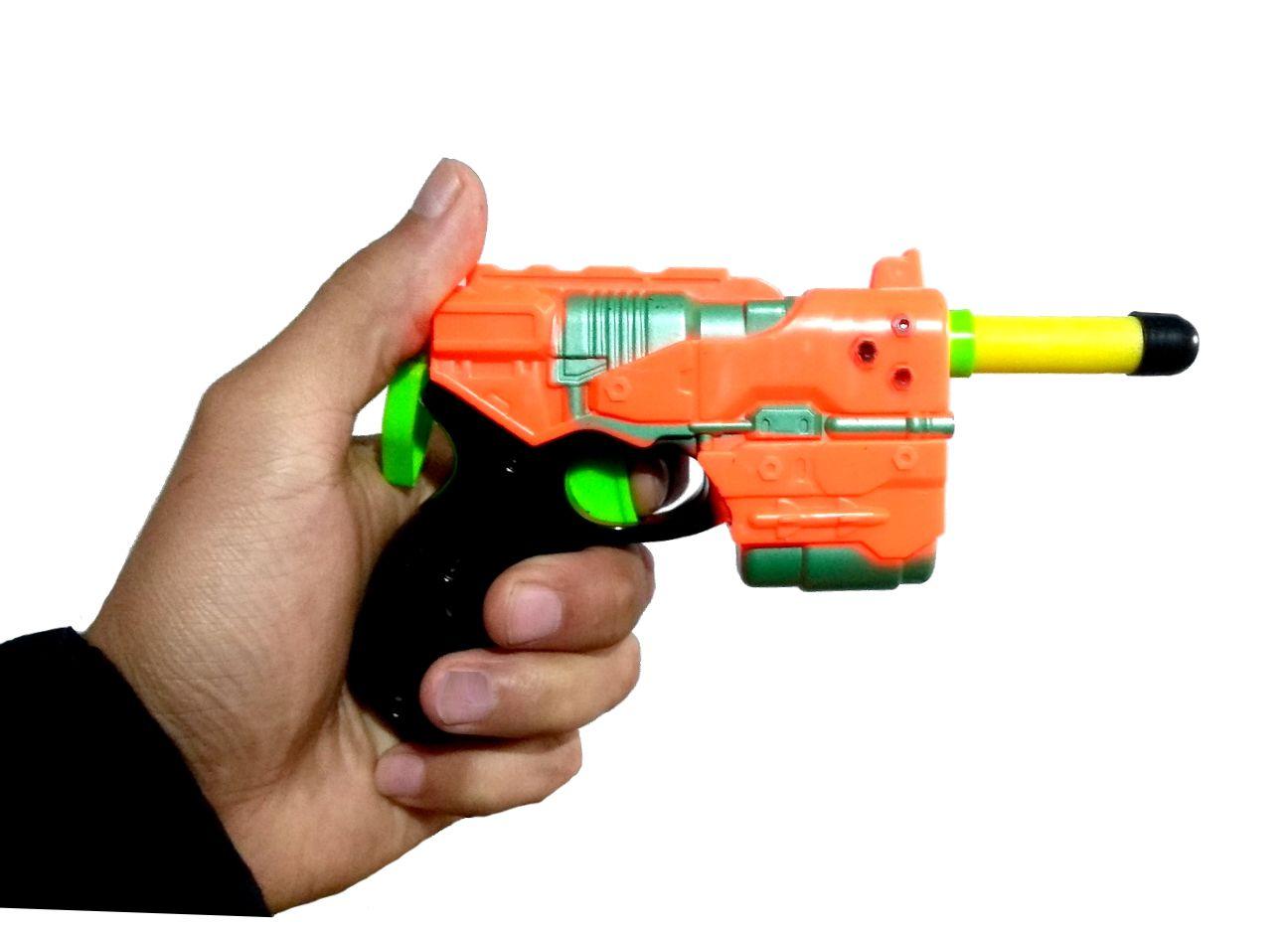 Pistola Nerf Arma Lança Dardos Arminha de Brinquedo