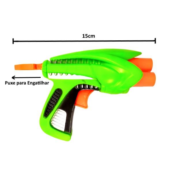 Pistola Nerf Arma Lança Dardos Arminha de Brinquedo Verde