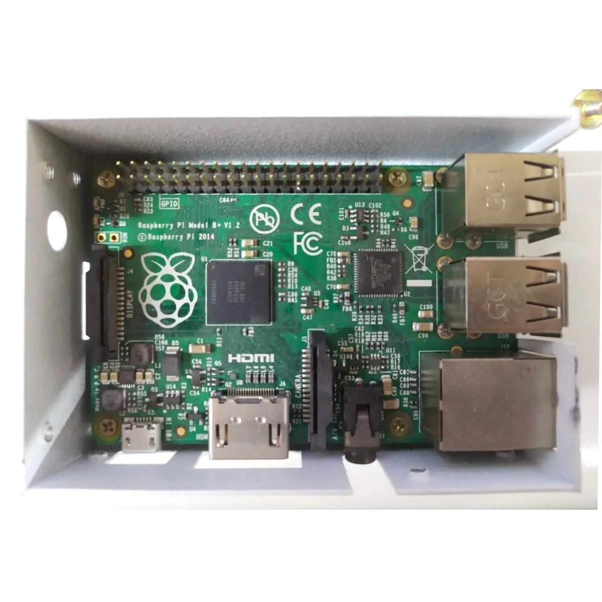 Placa Raspberry Pi1 Model B+ V1.2 Com Case De Metal