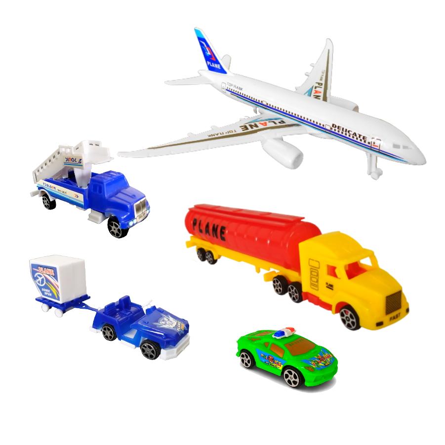 Playset Aeroporto com Avião e Acessórios para Brincar