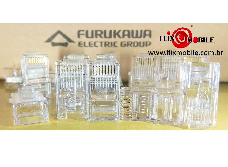 Plug Conector de Rede RJ45 Cat5e Macho Furukawa Soho Plus - 50 Unidades