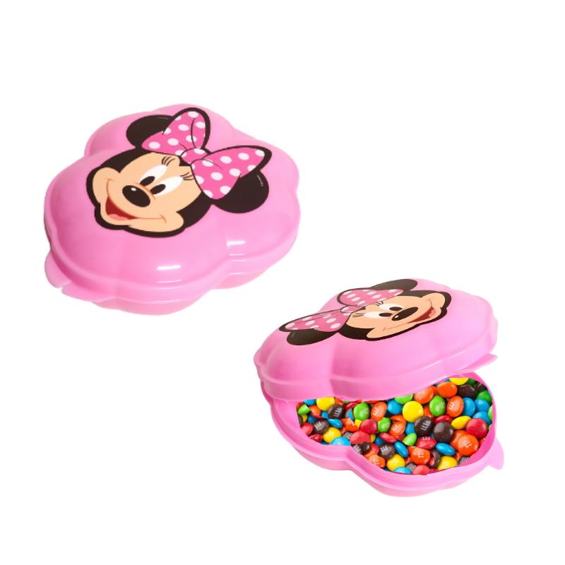 Porta Mix Minnie Rosa Plasútil para Doces para Festas Rosa