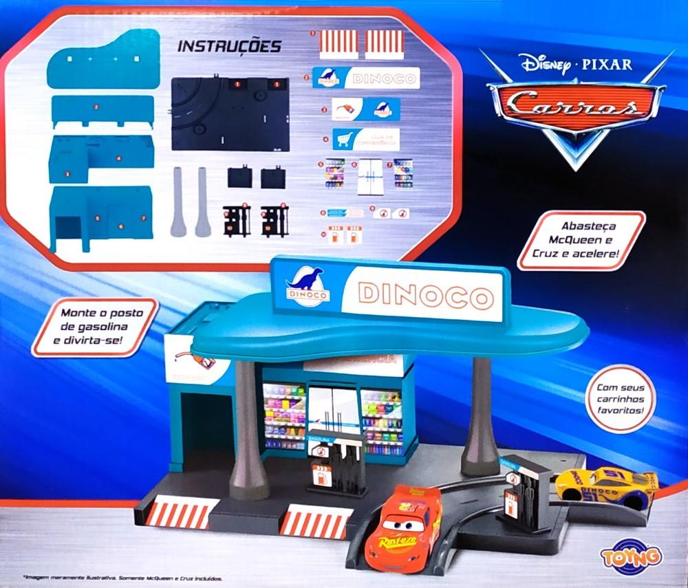 Posto de Gasolina Disney Carros com Relâmpago Macqueen e Cruz Ramirez