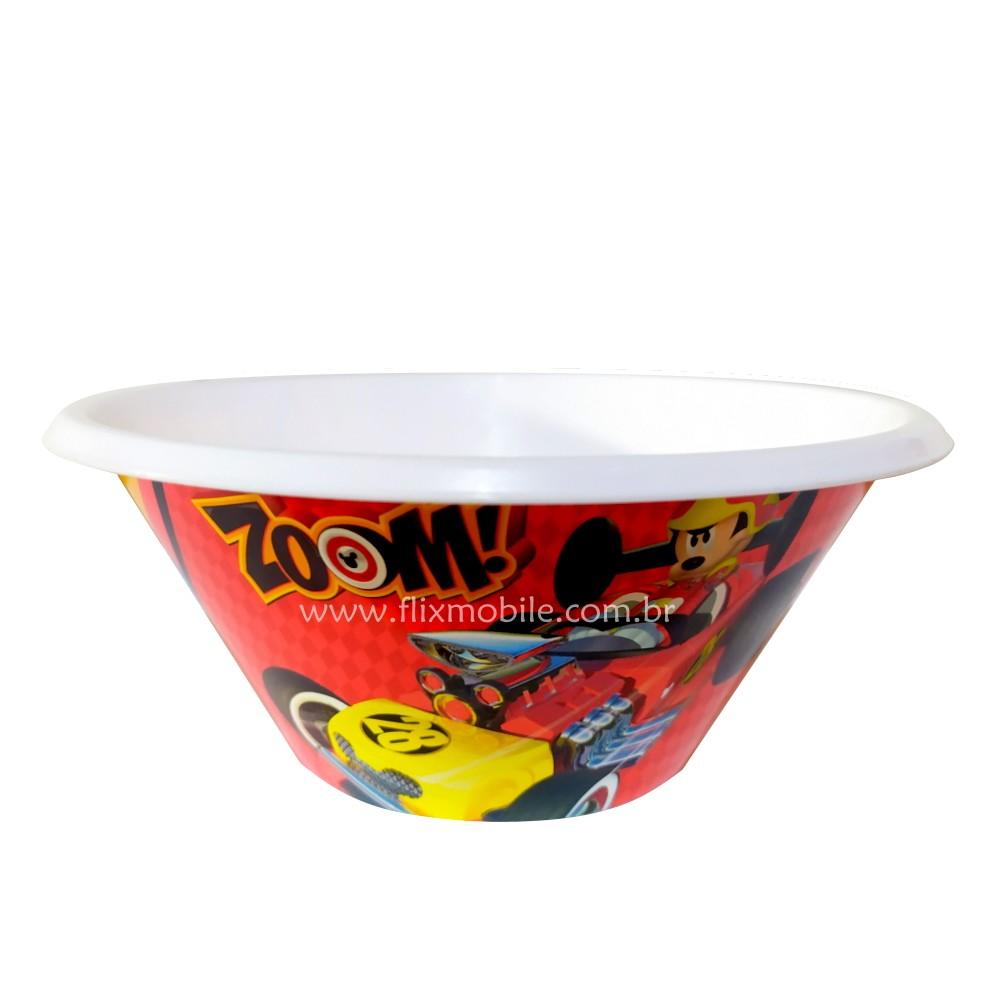 Pratinho Infantil Bowl do Mickey Papinha do Bebê Vermelho