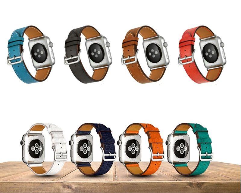 Pulseira de Couro Apple Watch 44mm 42mm Linha Premium Design