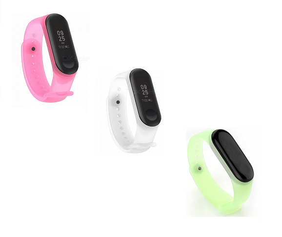 Pulseira de Silicone Transparente para Xiaomi Mi Band 3 e Mi Band 4