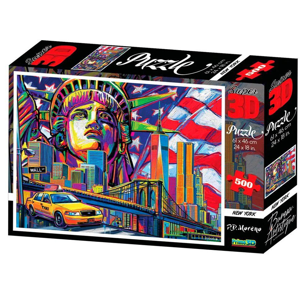 Quebra-Cabeça Super 3D Reflexivo com 500 peças Nova York