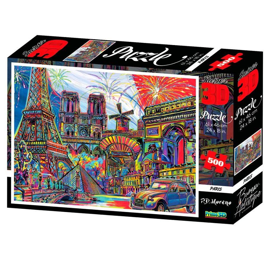 Quebra-Cabeça Super 3D Reflexivo com 500 peças Paris