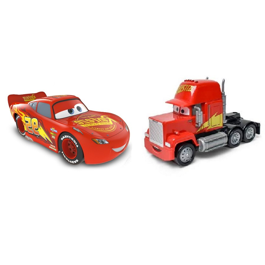 Relâmpago Mcqueen e Mack Disney Carros Roda Livre 13cm