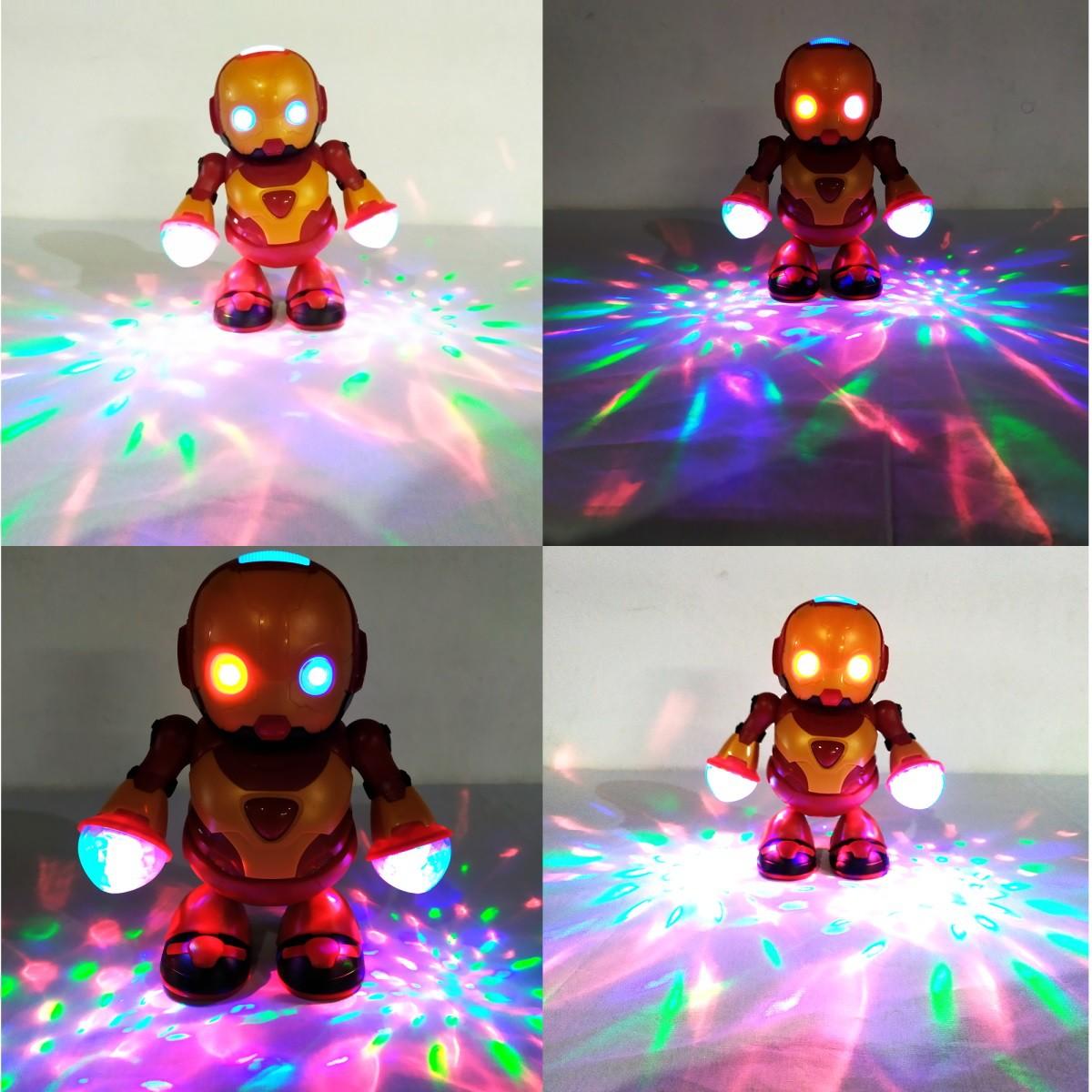 Robô Homem de Ferro Herói que Dança com Músicas Animadas e Luzes