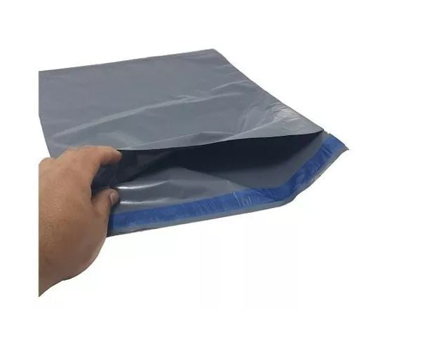 Saco de Encomendas Correios com Lacre Segurança Ecológico Preto 70x50 - 250und