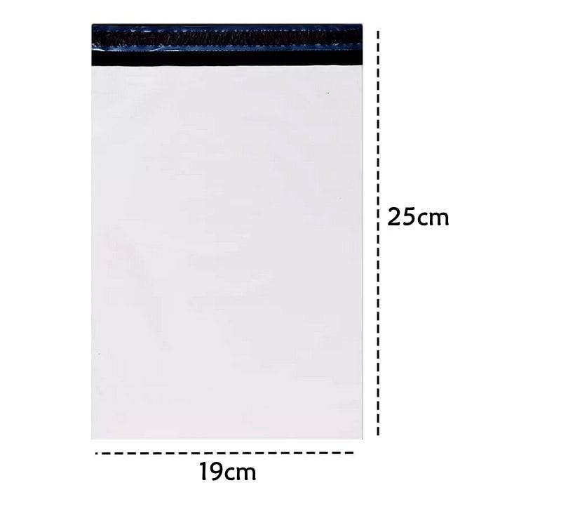 Saco de Envio de Encomendas com Lacre Segurança Branco 19x25 - 100 und