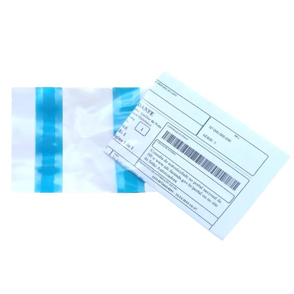 Saco Nota Fiscal Danfe e-commerce 11x12cm 250 unidades