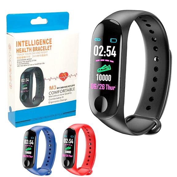 Smartband M3C Pulseira Inteligente Monitor Cardíaco Pressão Arterial