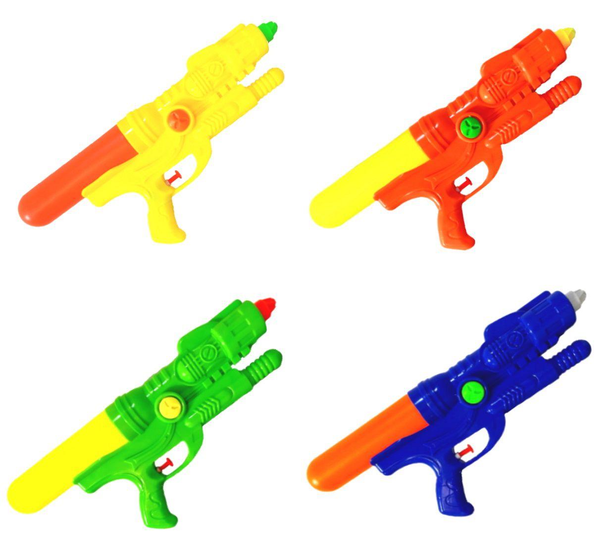 Super Arminha de Água Pistola Lançador de Agua Jato Duplo Flix Water - Kit com 4
