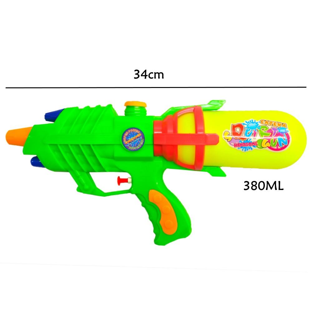 Super Pistola de Agua Jato Longo Flix Water 34cm - Kit com 2 Unidades