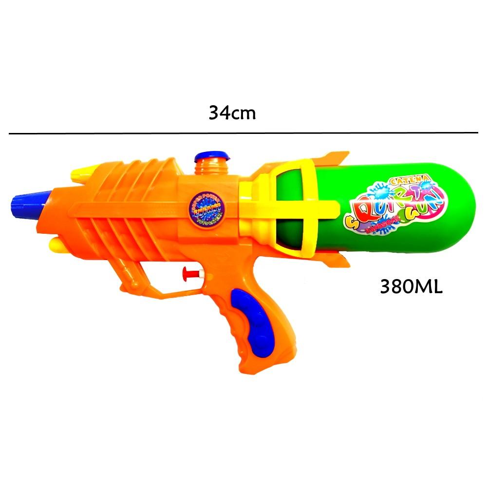 Super Pistola de Agua Jato Longo Flix Water 34cm - Kit com 4 Unidades