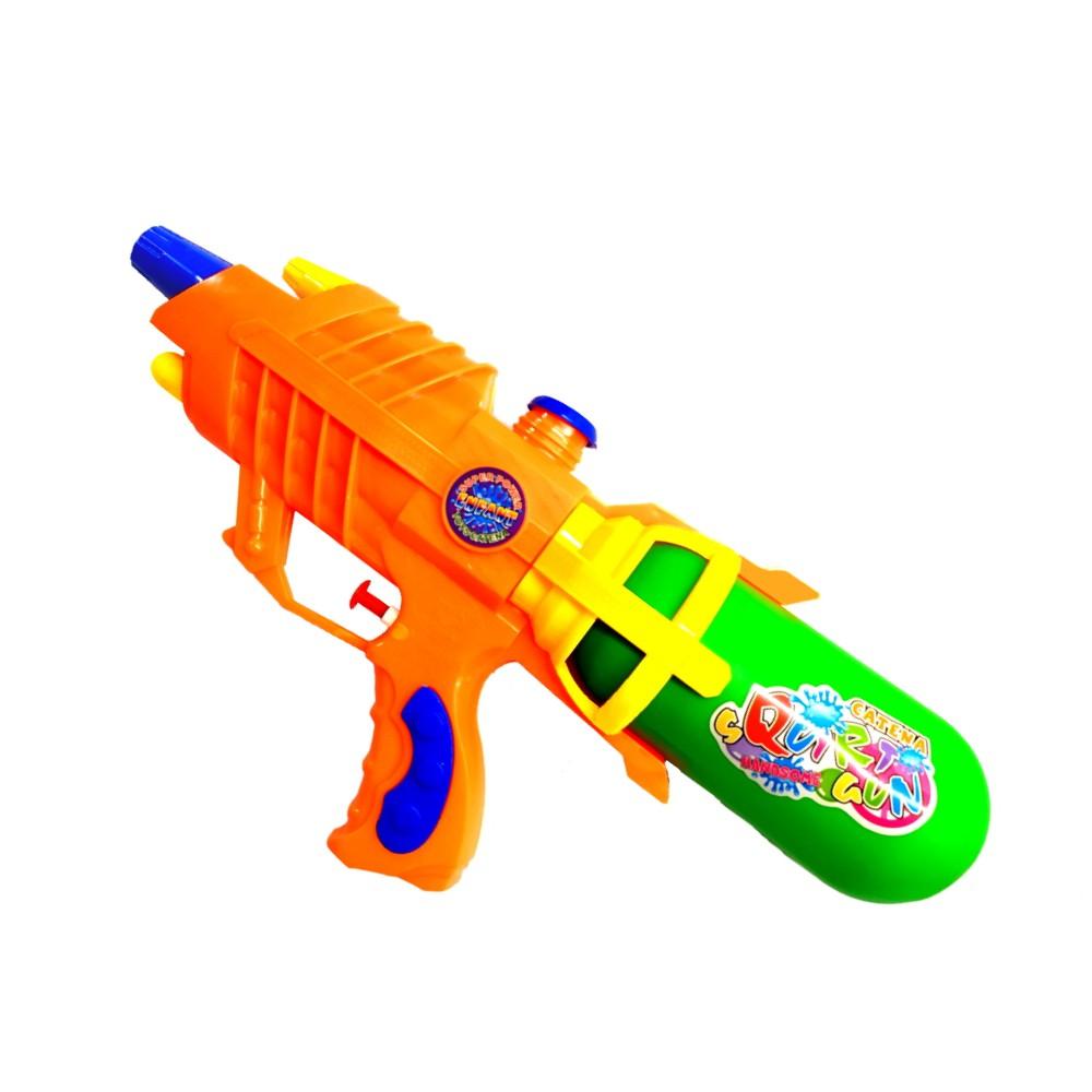 Super Pistola de Agua Jato Longo Flix Water 34cm Laranja